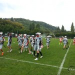 Redstore.de Lacrosse Tournament Würzburg Cup - Kumpelz Lacrosse on their way off the field