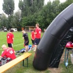 Redstore.de Lacrosse Tournament Würzburg Cup - Laxers at the Stand of Captain Lax