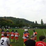 Redstore.de Lacrosse Tournament Würzburg Cup - Passau Laxers on their way to the lacrosse field