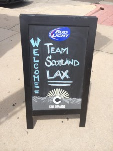 Team Scotland Lax Welcome at World Lacrosse Championships 2014 in Denver